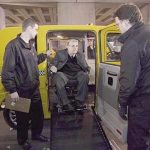Taxi prototype, first factory built sedan taxi that incorporates wheelchair access