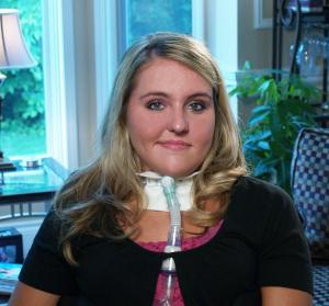 Laura Jackson after her cheerleading accident. (Credit: University of Michigan Health System)