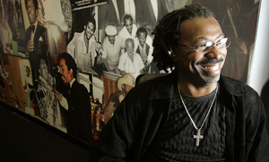 Pendergrass at Philadelphia International Records' office
