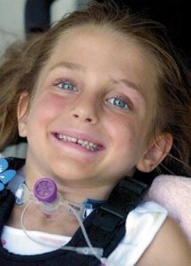 Taylor Parker, 6, is now at home recovering from a car crash last November.