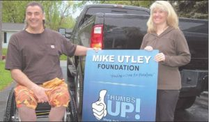 Photo contributed/TOM WATTS Former Lion Mike Utley and his wife, Dani, are trying to help find a cure for paralysis.