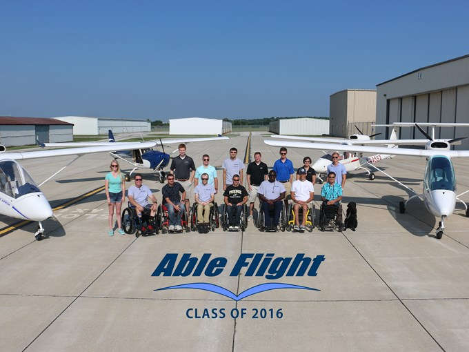 Able Flight 2016 wheels up class