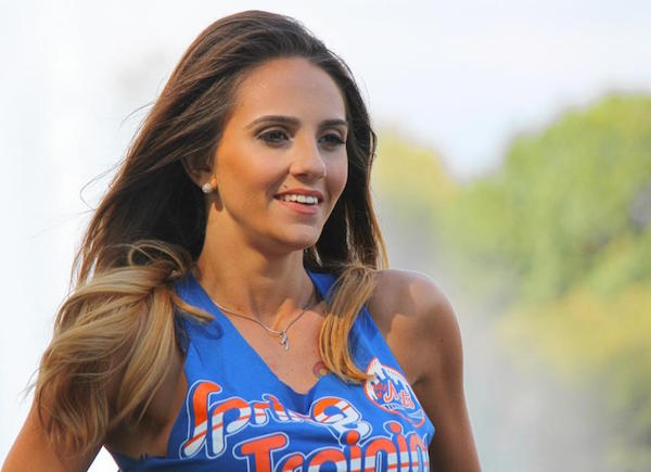 Online voters overwhelmingly select Amanda Perla to appear in the 'The 7 Line' calendar.