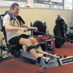 Devizes spinal injury man rows 'boat'