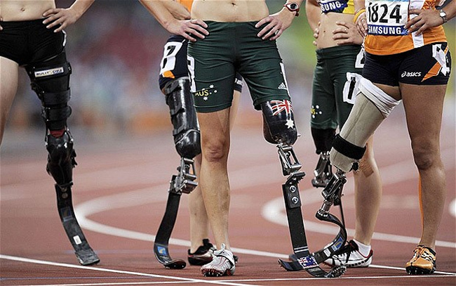 Athletes prepare to take part in a Paralymics event. PHOTO/AFP