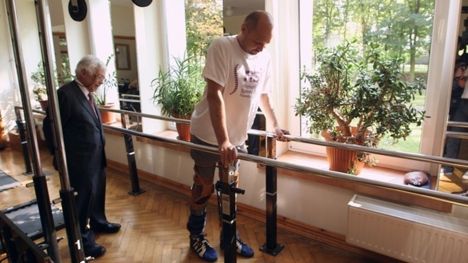 Darek Fidyka was left paralysed from the waist down after his spinal cord was sliced in half. Credit: BBC/PA Wire