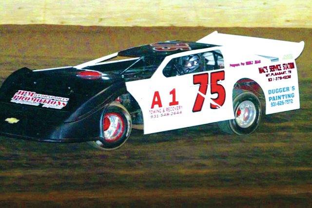 Charlie Ray Howell of Mt. Pleasant drove this No. 75 car to a win in the 602 Crate Late Model division at the North Alabama Speedway.