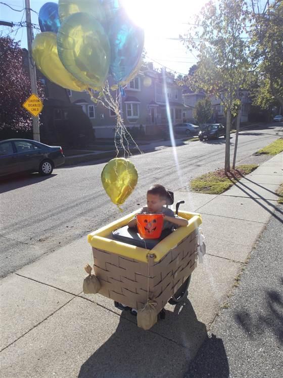 A beautiful Halloween: Ivan in his hot air balloon costume last year.