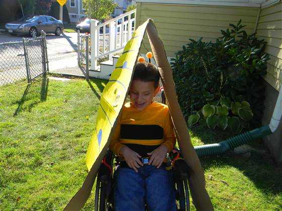 So sweet! Ivan enjoys his honeybee costume in 2012.