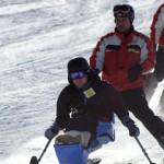Derek Moseychuk in a sit-ski