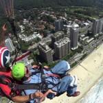 Gene Rodgers paragliding in Rio de Janeiro