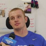 Injured Newcastle Knights player Alex McKinnon
