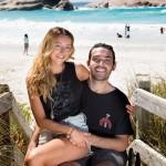 Jaimen Hudson and his girlfriend