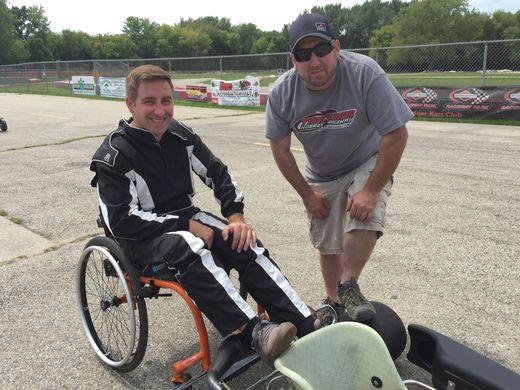 Matt Maier and his friend, Jamie Tennies, the owner of Trackside Hobbies & Raceway in Brookfield