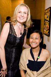 Michele Lee at the ArtFutura event with her art therapist, Phoebe Whisnant