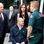 Minister John Day meets quadriplegic Craig Parsons
