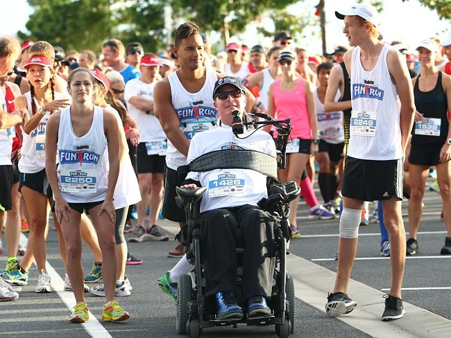 Mr Cross at the Gold Coast Bulletin Fun Run this year. Picture: Kit Wise Source: News Corp Australia