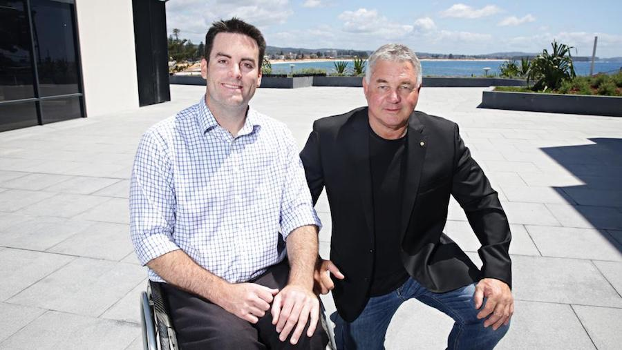 Nick Taylor and Rod Macqueen at the Soon-to-open Sargood On Collaroy. Picture: Adam Yip.