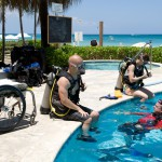 People with paralysis explore therapeutic effects of scuba diving