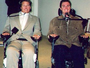 Perry Cross met Hollywood actor Christopher Reeve in 1997. Source: News Corp Australia