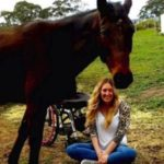 Rhiannon horse-riding since accident