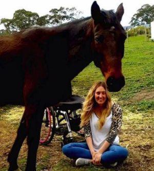 Rhiannon horse-riding since accident
