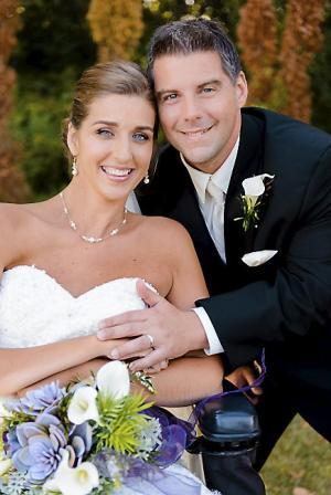 Tasha Schuh and Doug Michaels wedding day