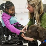 Therapy dogs help girl move after spinal cord injury