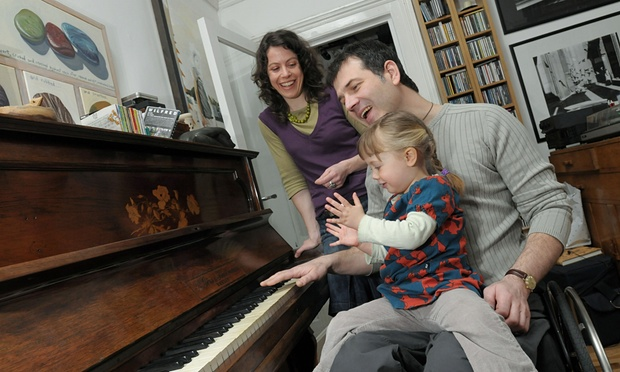 Tim Rushby-Smith, with his wife Penny and daughter Rosalie at home in 2008. Photograph: Christian Sinibaldi/Christian Sinibaldi.