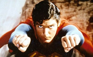 Iconic: Christopher Reeve as hero Superman