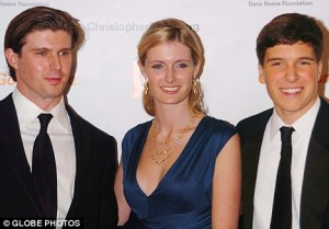 Proud: Matthew, Alexandra and Will at a charity evening for the Christopher And Dana Reeve Foundation in 2007