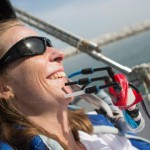 British quadriplegic sailor Hilary Lister is paralyzed from the neck down but, despite her disability, sails using three straws and has undertaken a litany of challenges.