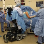 paralyzed doctor performs surgery