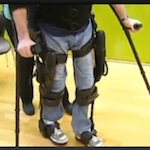 paralyzed soldiers take  first steps