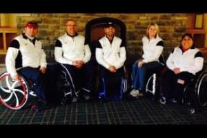 Team USA – L-R: Patrick McDonald, Steven Emt, Jimmy Joseph, Penny Greely and Meghan Lino . Image credit: US Curling