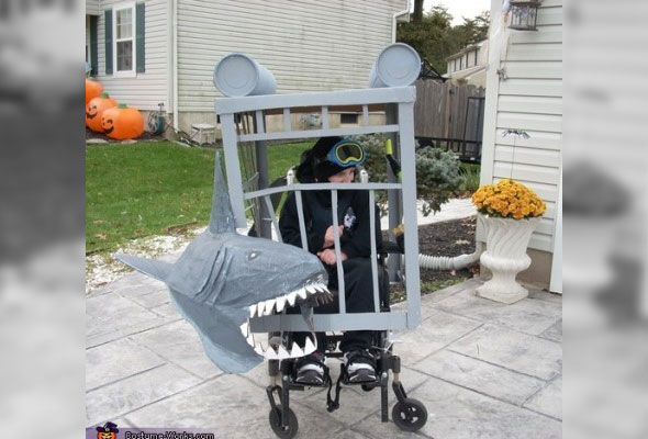 wheelchair-halloween-costume-shark-cage